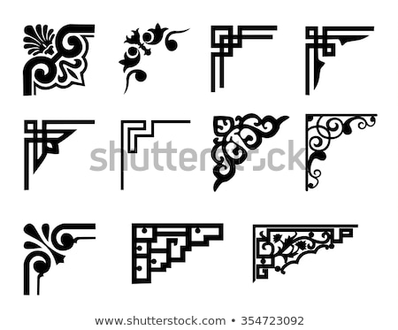 Decorative calligraphic corners and frames - vector set Stock photo © blue-pen