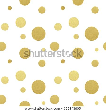 clássico · pontilhado · sem · costura · ouro · padrão · conjunto - foto stock © fresh_5265954