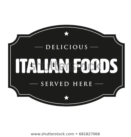 Italiaans pizzeria restaurant illustratie pizza tabel Stockfoto © adrenalina