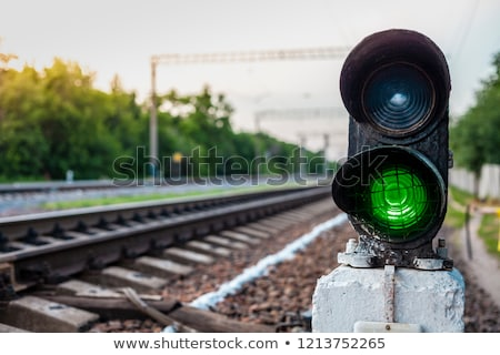 Traffic lights for train and railroad Stock photo © bluering
