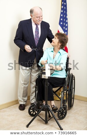 Court Reporter in Wheelchair Stock photo © lisafx