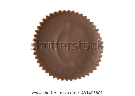 manteiga · de · amendoim · copo · chocolate · em · linha · reta · comida · doces - foto stock © icemanj