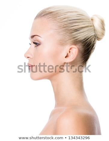 プロファイル 肖像 かなり 小さな ブロンド 女性 ストックフォト © Giulio_Fornasar