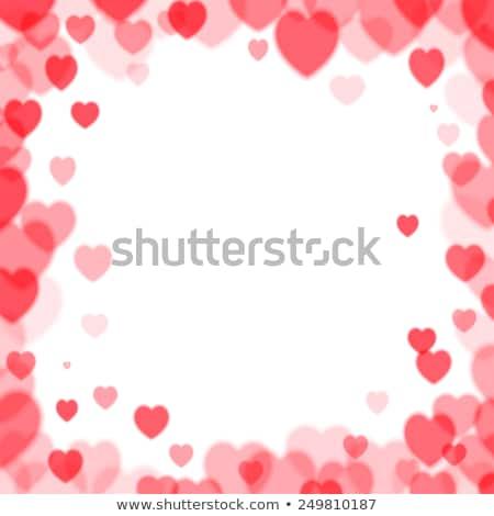 Sevgililer günü kare çerçeve bokeh kalpler rasgele Stok fotoğraf © SwillSkill