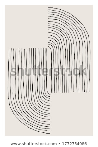 Abstract concentric shape from color lines Stock photo © ptichka