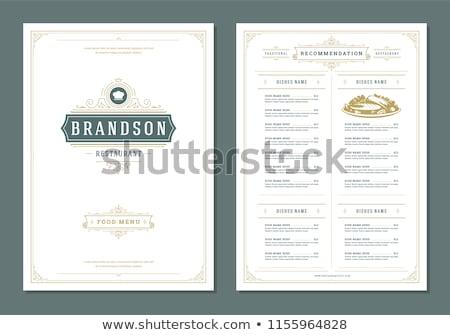 Restoran menü vektör tasarım şablonu bağbozumu stil Stok fotoğraf © blue-pen