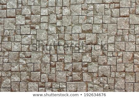 gray and brown squares of pavement seamless texture stock photo © tashatuvango