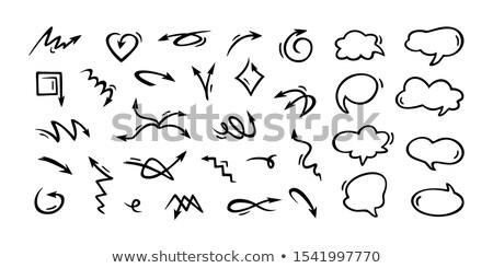 Szett kézzel rajzolt nyilak izolált fehér terv Stock fotó © masay256