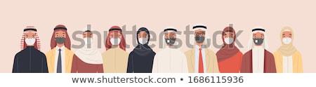 muszlim · család · rajzfilmfigura · nő · lány · baba - stock fotó © nikodzhi