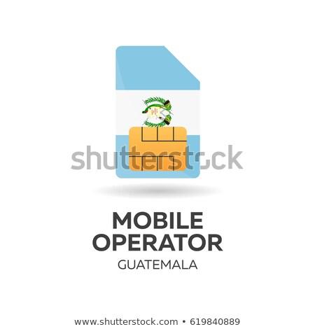 Guatemala mobile operator. SIM card with flag. Vector illustration. Stock photo © Leo_Edition