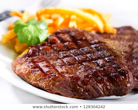 grilled beef steak and french fries Stock photo © M-studio
