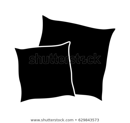Cartoon oreiller silhouette meubles couleur blanche Photo stock © NikoDzhi