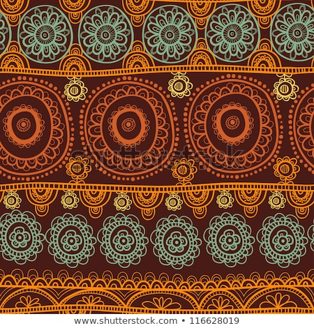 ethnic seamless pattern indian ornament kaleidoscopic flora pattern mandala range stock photo © mamziolzi