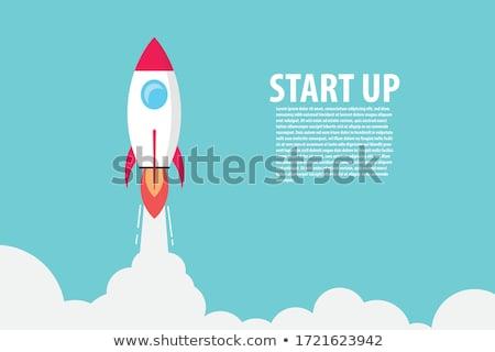 Foto stock: Space Rocket Launch Start Up