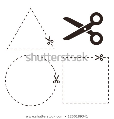 Scissors circle template sign. Symbol cut with shears Stock photo © popaukropa