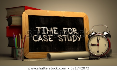 case study handwritten by white chalk on a blackboard stock photo © tashatuvango