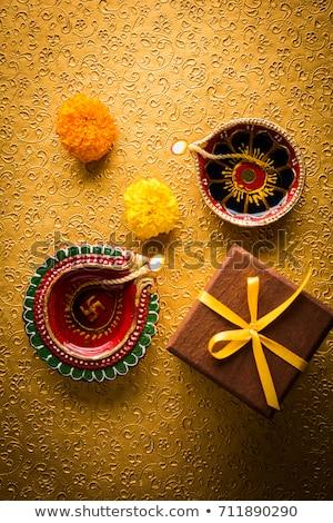 Eleganten glücklich Diwali Licht Scharfeinstellung abstrakten Stock foto © SArts