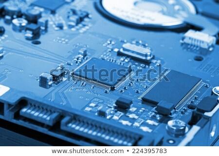 Foto stock: Dentro · computador · escritório · fundo · indústria