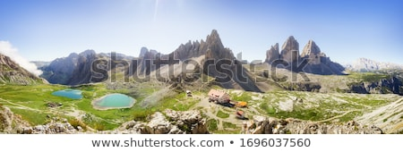 terep · park · Kaukázus · hegyek · sí · üdülőhely - stock fotó © cookelma