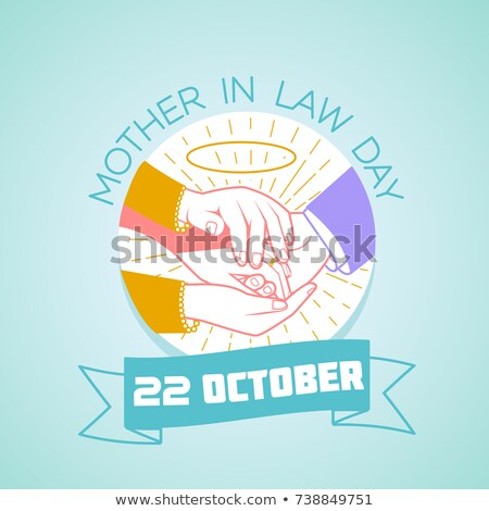22 mãe lei dia calendário cartão Foto stock © Olena