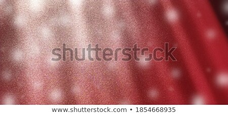 glowing snow red clouds bokeh stock photo © romvo