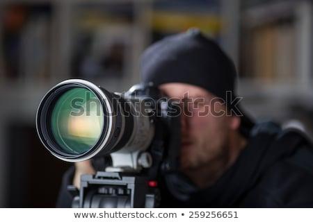Secrets on Black Digital Camera Lens. Closeup. Stock photo © tashatuvango
