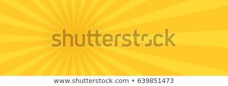 Rood · Geel · pop · art · halftoon · retro · zonsondergang - stockfoto © studiostoks