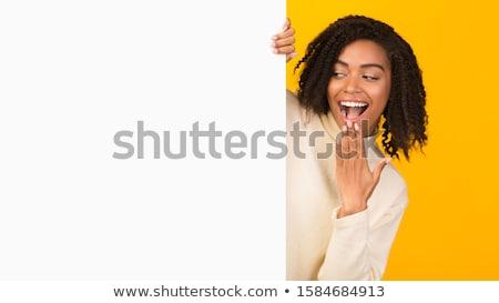 kadın · dışarı · gizleme · stüdyo · portre · kadın - stok fotoğraf © filipw