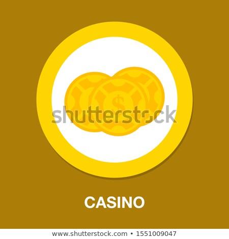 Conjunto jogos de azar fichas isolado vetor realista Foto stock © orensila