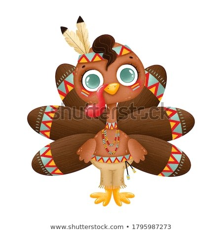 Gyerek fiú zarándok Törökország hálaadás illusztráció Stock fotó © lenm