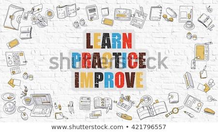 Aprender práctica negocios megáfono Foto stock © tashatuvango