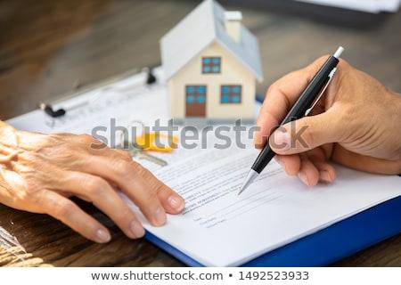 Szöveg vágólap papír lap asztal irodaszerek Stock fotó © tashatuvango