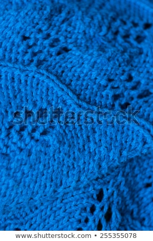 knitted blue and green wool stripes abstract texture background stock photo © latent
