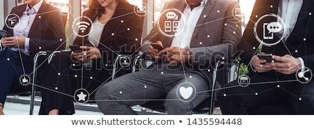 Társasági eljegyzés laptop képernyő közelkép leszállás Stock fotó © tashatuvango