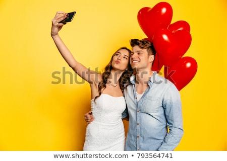 hand · smartphone · telefoon · aantal · pop · art · retro-stijl - stockfoto © rogistok