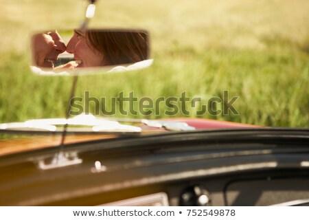 Küssen · Auto · jungen · lächelnd - stock foto © is2