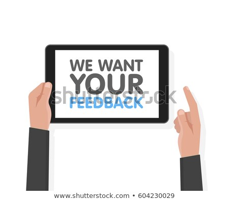 vote your opinion vector blue background Stock photo © SArts