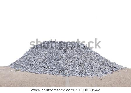 cascalho · construção · terra · rocha · industrial - foto stock © hofmeester