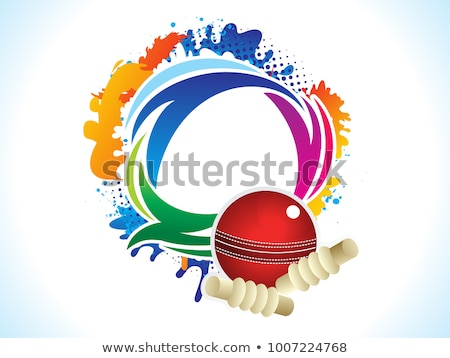 abstract artistic creative cricket explode Stock photo © pathakdesigner