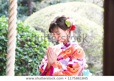 gyönyörű · lány · blúz · szoknya · gyönyörű · fiatal · nő · fehér · blúz - stock fotó © bezikus