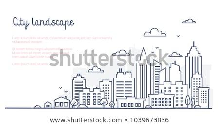 cityscape with skyscrapers vector illustration stock photo © rastudio