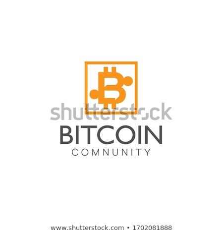 Vektor klub szimbólum digitális valuta érme Stock fotó © tashatuvango