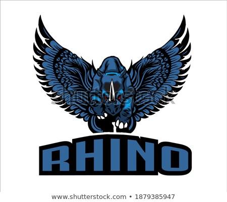 Águia · cabeça · logotipo · vetor · modelo · falcão - foto stock © maryvalery