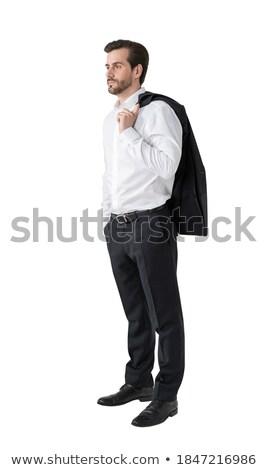 European bearded businessman with money in hands Stock photo © studioworkstock