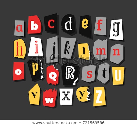 Anonymous alphabet made from newspapers Stock photo © orson