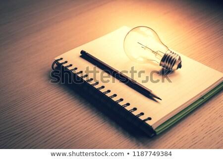 Dagboek houten tafel wereld tabel macht Stockfoto © wavebreak_media