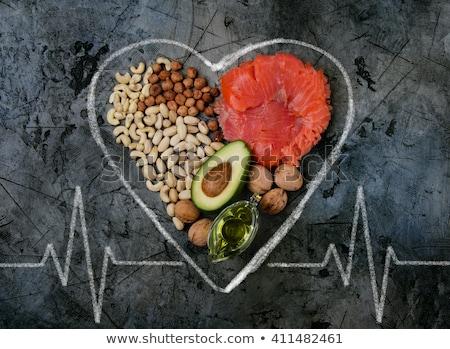 sötét · kő · egészséges · étel · egészséges · vegan · étel - stock fotó © Valeriy