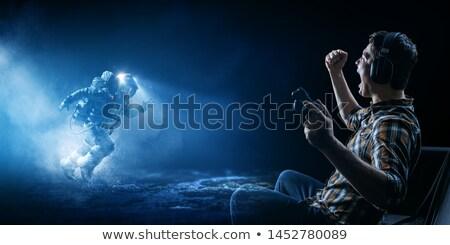 астронавт · земле · судно · космический · корабль · человека - Сток-фото © bluering
