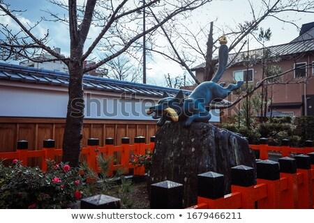 Japanese Fox Statue Stock photo © Kakigori