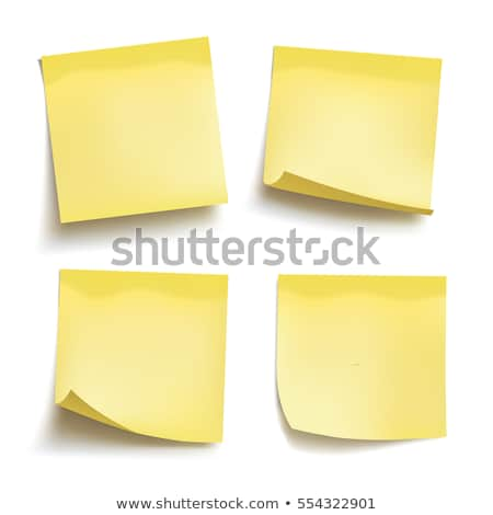 Yellow stick note. Set of four vector sticky notes Stock photo © Said